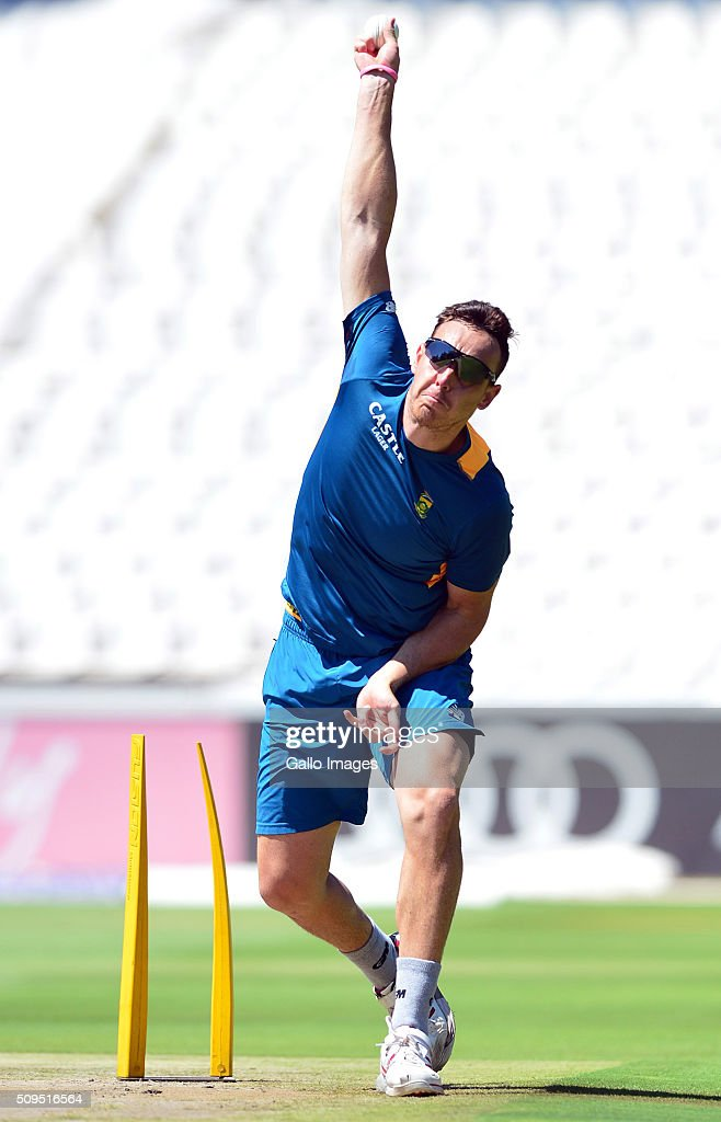 Kyle Abbot during the South African national cricket team training session and press conference at Bidvest Wanderers Stadium on February 11, 2016 in Johannesburg, South Africa.