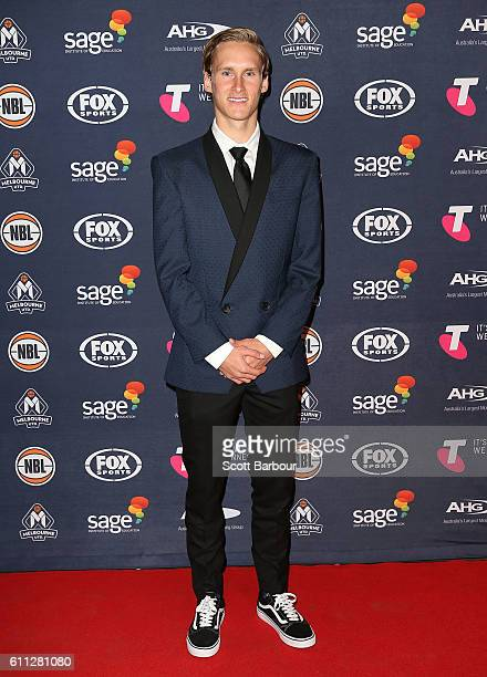 Kyle Adnam arrives at the Melbourne United 2016/17 NBL season launch at Laurens Hall on September 29 2016 in Melbourne Australia