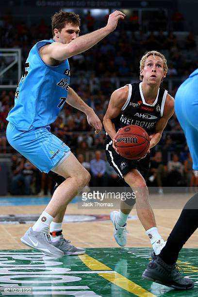 Kyle Adnam of Melbourne United drives to the basket during the round five NBL match between Melbourne United and the New Zealand Breakers on November...