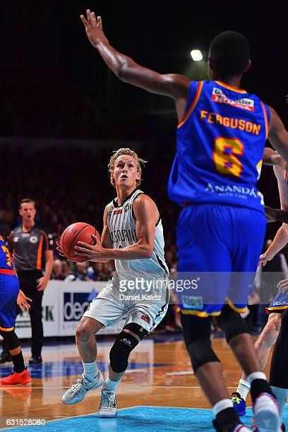 Kyle Adnam of Melbourne United looks to pass during the round 15 NBL match between the Adelaide 36ers and Melbourne United at Titanium Security Arena...