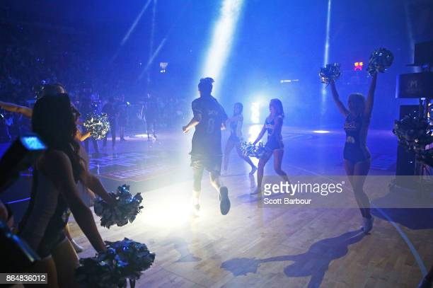Kyle Adnam of United runs onto the court during the round three NBL match between Melbourne United and the New Zealand Breakers at Hisense Arena on...