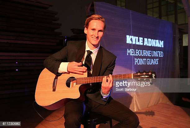Kyle Adnam performs on stage at the Melbourne United 2016/17 NBL season launch at Laurens Hall on September 29 2016 in Melbourne Australia