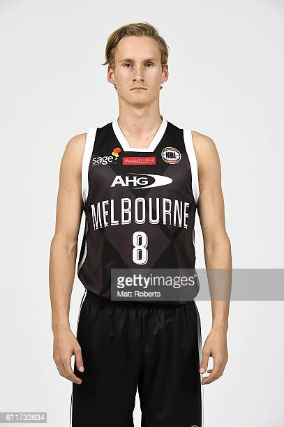 Kyle Adnam poses during the Melbourne United 2016/17 NBL headshots session at Rydges Southbank on September 22 2016 in Brisbane Australia
