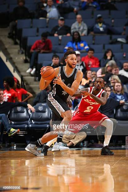 Kyle Anderson of the San Antonio Spurs handles the ball during the game against the Memphis Grizzlies on December 3 2015 at FedExForum in Memphis...