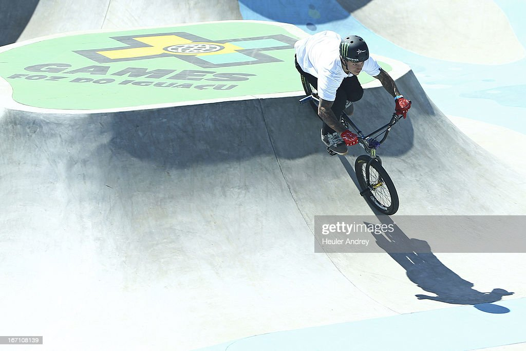 Kyle Baldock in action during BMX Park at the X Games on April 20, 2013 in Foz do Iguacu in National Park Iguacu.