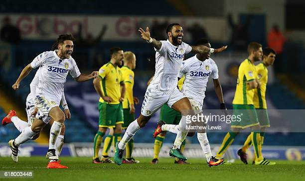 Kyle Bartley of Leeds United celebrates his teams win during the EFL Cup Fourth Round match between Leeds United and Norwich City at Elland Road on...