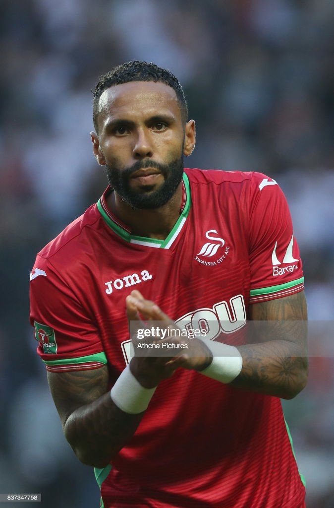 Kyle Bartley of Swansea City prior to kick off of the Carabao Cup Second Round match between MK Dons and Swansea City at StadiumMK on August 22, 2017 in Milton Keynes, England.