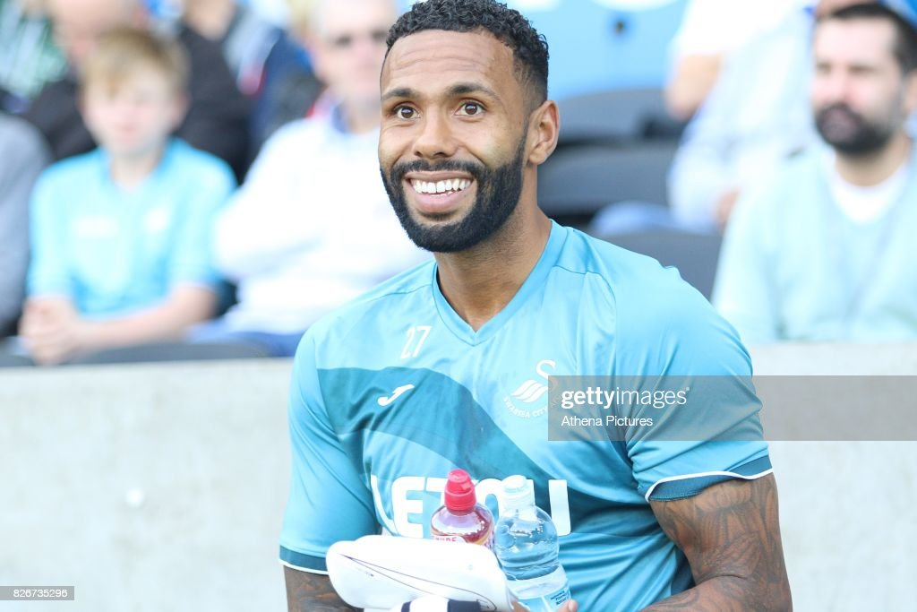 Kyle Bartley of Swansea City prior to kick off of the preseason friendly match between Swansea City and Sampdoria at The Liberty Stadium on August 5, 2017 in Swansea, Wales.