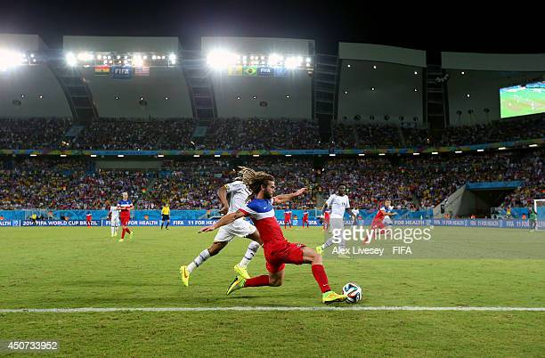 Kyle Beckerman of the United States controls the ball during the 2014 FIFA World Cup Brazil Group G match between Ghana and USA at Estadio das Dunas...