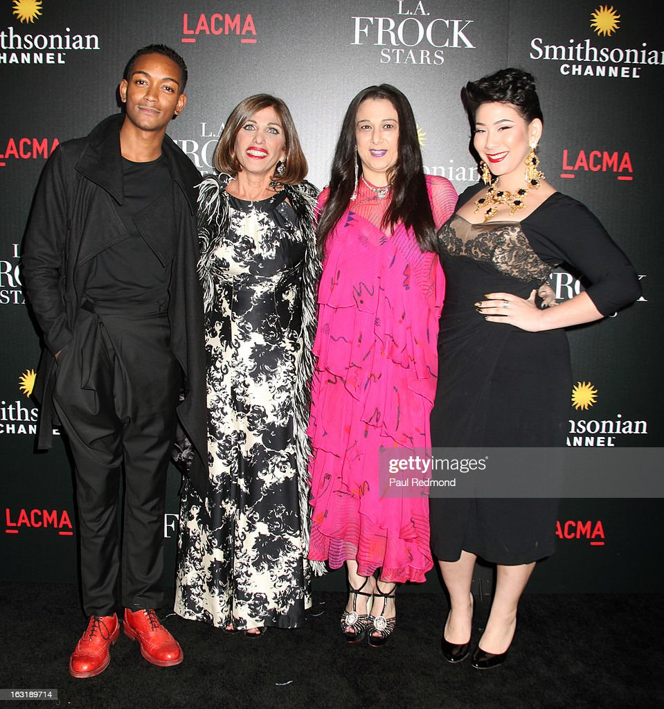 Kyle Blackmon, Doris Raymond, Sarah Bergman and Shelly Lyn Erdmann arrive at 'L.A.Frock Stars' - Los Angeles Screening at LACMA on March 5, 2013 in Los Angeles, California.