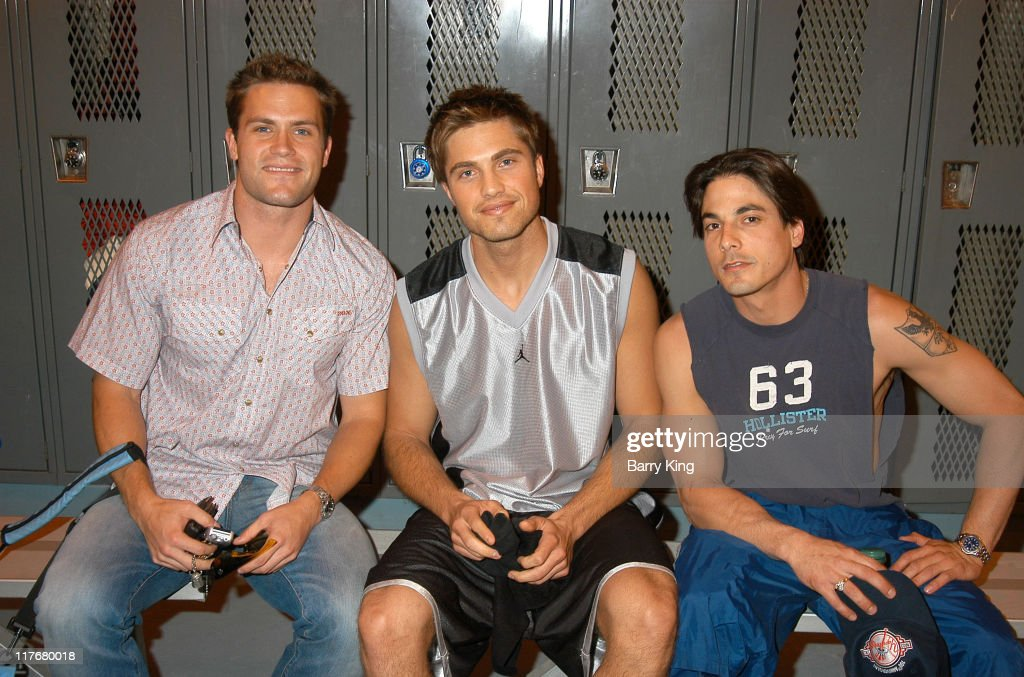 Kyle Brandt, Eric Winter and Bryan Dattilo during Hollywood Knights Basketball Game - Fullerton at Troy High School in Fullerton, California, United States.