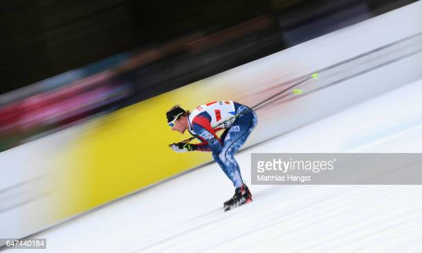 Kyle Bratrud of the United States competes in the Men's 4x10km Cross Country Relay during the FIS Nordic World Ski Championships on March 3 2017 in...