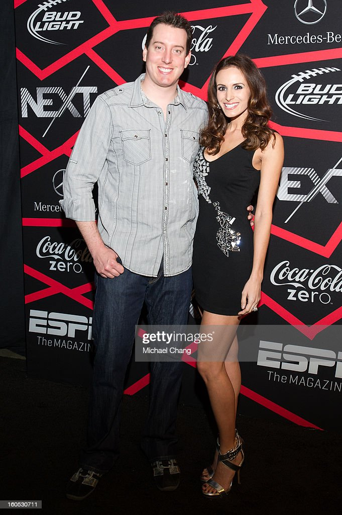 <a gi-track='captionPersonalityLinkClicked' href=/galleries/search?phrase=Kyle+Busch&family=editorial&specificpeople=211123 ng-click='$event.stopPropagation()'>Kyle Busch</a> and guest attends ESPN The Magazine's 'Next' Event at Tad Gormley Stadium on February 1, 2013 in New Orleans, Louisiana.