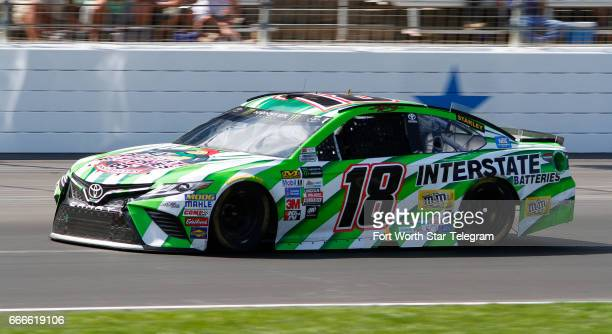 Kyle Busch and his Gibbs teammates were not much of a factor in the Monster Energy NASCAR Cup O'Reilly Auto Parts 500 on Sunday April 9 2017 at Texas...