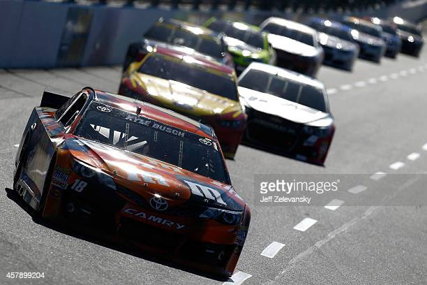 kyle busch driver of the mms halloween toyota leads a pack of cars during the nascar - Kyle Busch Halloween Car