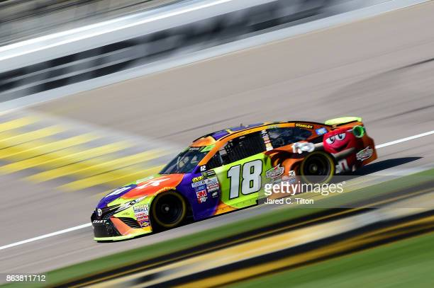 Kyle Busch driver of the MM's Halloween Toyota practices for the Monster Energy NASCAR Cup Series Hollywood Casino 400 at Kansas Speedway on October...