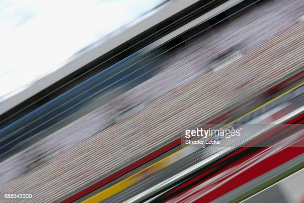 Kyle Busch driver of the MM's Red White Blue Toyota drives during practice for the Monster Energy NASCAR Cup Series CocaCola 600 at Charlotte Motor...