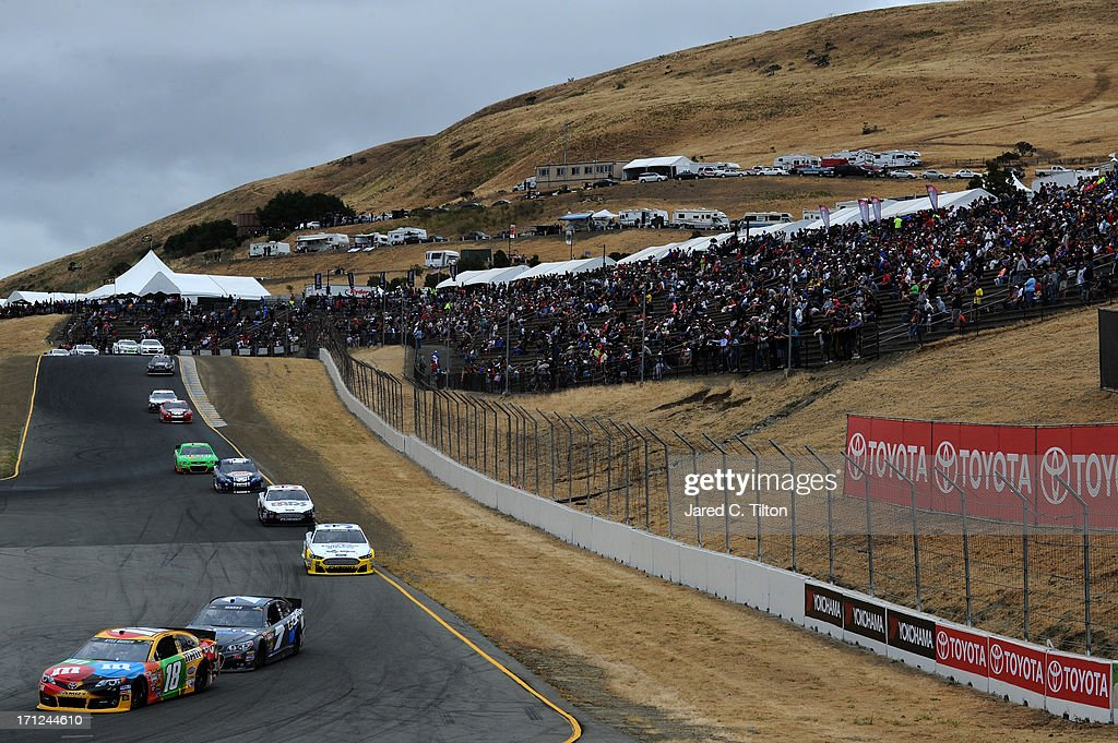 Kyle Busch, driver of the #18 M&M's Toyota, drives during the NASCAR Sprint Cup Series Toyota/Save Mart 350 at Sonoma Raceway on June 23, 2013 in Sonoma, California.