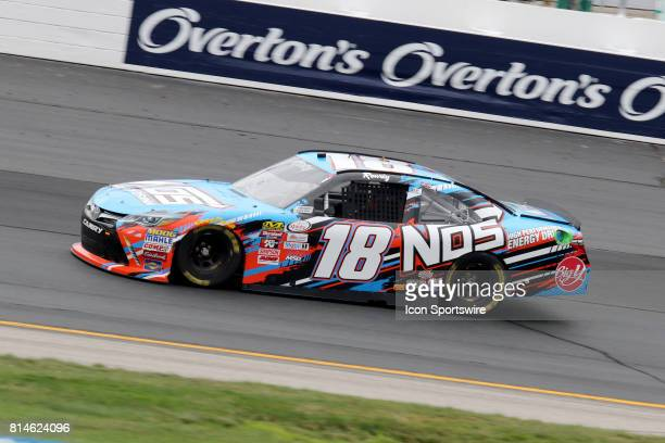 Kyle Busch driver of the NOS Energy Drink Toyota during practice for the Overton's 200 Xfinity Series race on July 14 at New Hampshire Motor Speedway...