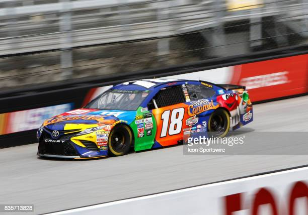Kyle Busch Joe Gibbs Racing MMs Caramel Toyota Camry during practice for the Bass Pro Shop NRA 500 at Bristol Motor Speedway on August 18 2017 Photo...