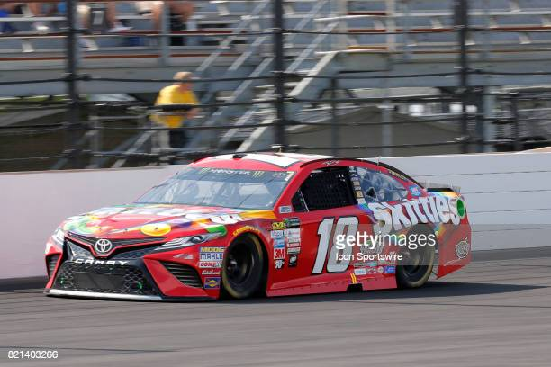 Kyle Busch Joe Gibbs Racing Toyota Camry comes out of turn four during the NASCAR Monster Energy Cup Series Brantley Gilbert Big Machine Brickyard...