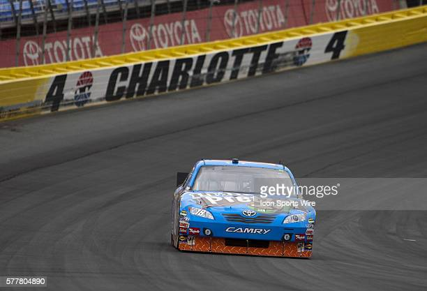 Kyle Busch practices for the 2010 NASCAR Sprint Cup AllStar Race at the Charlotte Motor Speedway in Concord NC