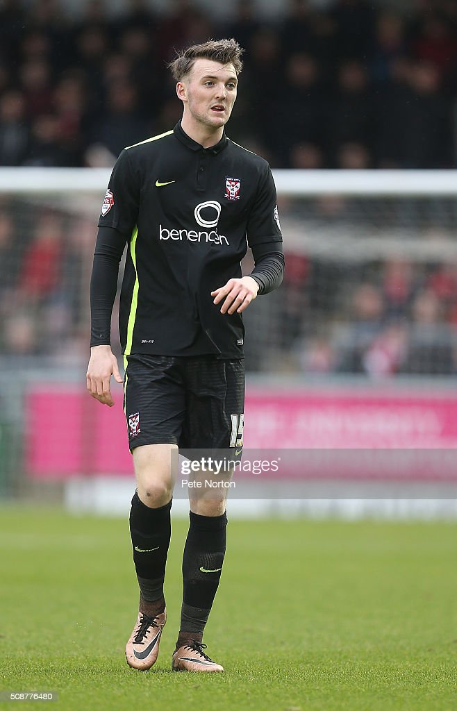 Kyle Cameron of York City in action during the Sky Bet League Two match between Northampton Town and York City at Sixfields Stadium on February 6, 2016 in Northampton, England.