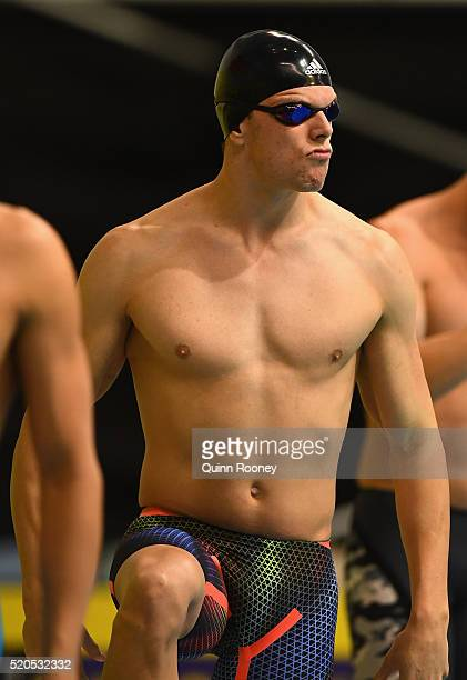 Kyle Chalmers of Australia prepares to race in the Men's 50 Metre Freestyle during day six of the 2016 Australian Swimming Championships at the South...