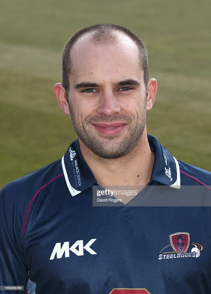 Kyle Coetzer of Northamptonshire CCC poses for a portrait wearing the T20 kit at the County Ground on April 3, 2013 in Northampton, England.