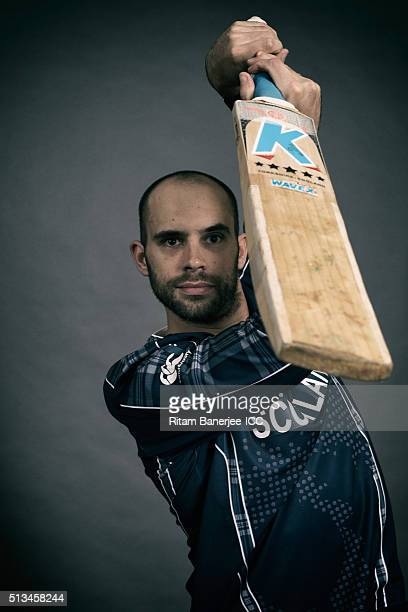 Kyle Coetzer of Scotland poses during the official photocall for the ICC Twenty20 World on March 2 2016 in Mohali India