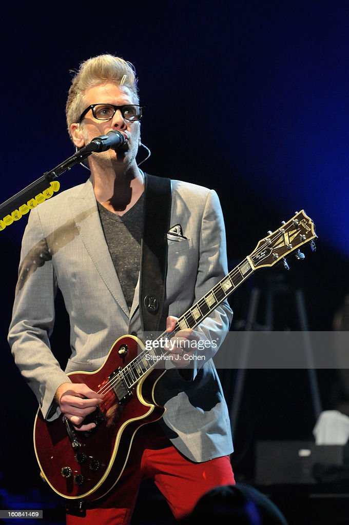 Kyle Cook of Matchbox Twenty performs at the Louisville Palace on February 5, 2013 in Louisville, Kentucky.