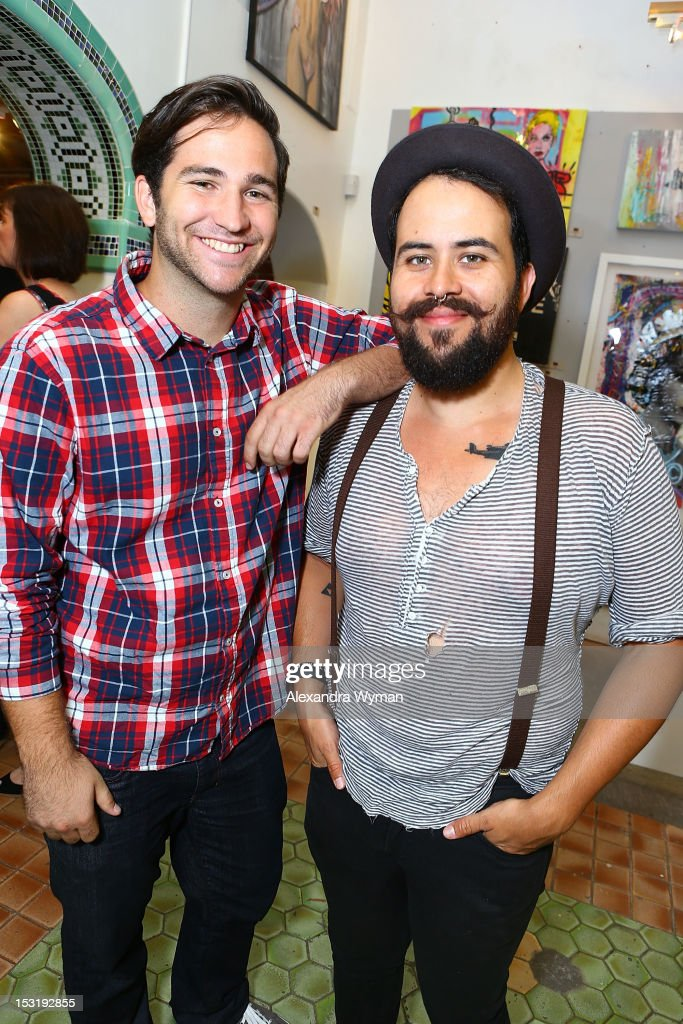 Kyle Craft and Louis Mendoza at 'American Rag And Lab ART Present 'Keep Breast,'' an Americana themed art exhibition for Breast Cancer Prevention Month at LAB ART on September 29, 2012 in Los Angeles, California.