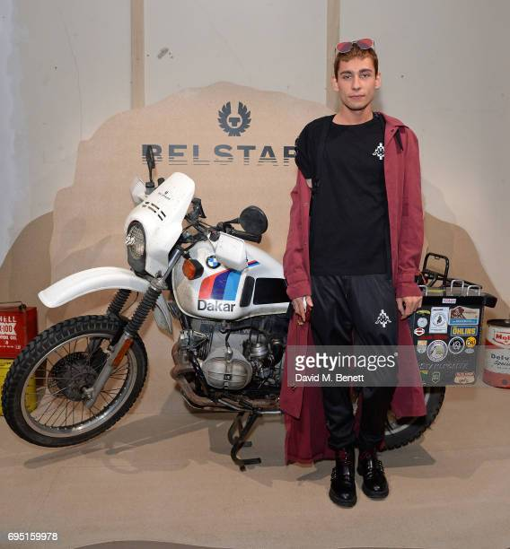 Kyle De'Volle attends the Belstaff Presentation during the London Fashion Week Men's June 2017 collections on June 12 2017 in London England