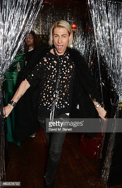 Kyle De'volle attends the Glam Rock Christmas party to celebrate the collaboration between House of Hackney and Terry De Havilland at The Scotch of...