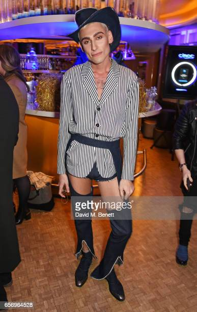 Kyle De'Volle attends the launch of the JF London x Kyle De'Volle fall/winter 2017 capsule collection sponsored by Ciroc Vodka at W London Leicester...