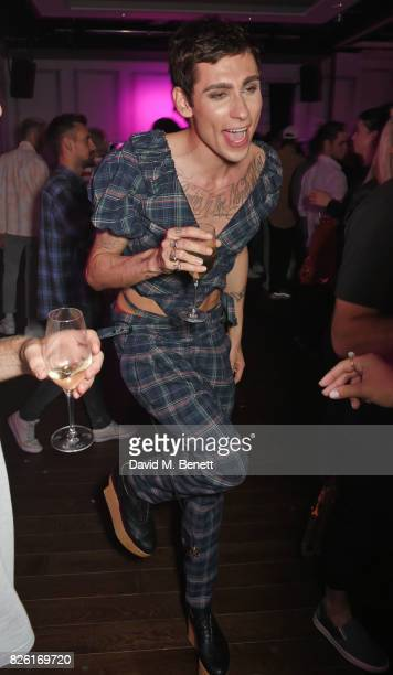 Kyle De'Volle attends the #YSLBeautyClub party in collaboration with Sink The Pink at The Curtain on August 3 2017 in London England