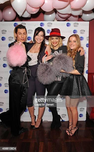 Kyle De'volle Daisy Lowe Rita Ora and Charlotte Simone attend the Charlotte Simone x Kyle De'volle Bon Bon Bag launch at Steam Rye on November 11...