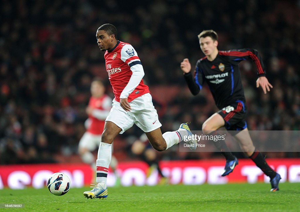 Kyle Ebecilio of Arsenal during the NextGen Series Quarter Final match between Arsenal and PFC CSKA at Emirates Stadium on March 25, 2013 in London, England.