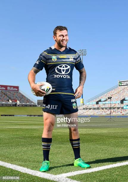 Kyle Feldt of the Cowboys has a laugh during a North Queensland Cowboys NRL media opportunity at Cowboys HQ on September 25 2017 in Townsville...