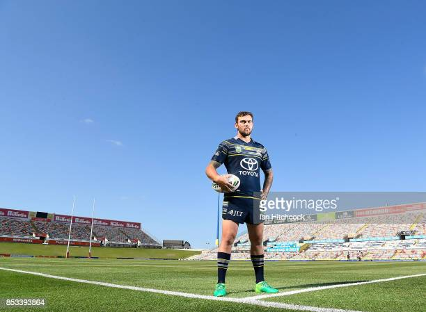 Kyle Feldt of the Cowboys poses during a North Queensland Cowboys NRL media opportunity at Cowboys HQ on September 25 2017 in Townsville Australia