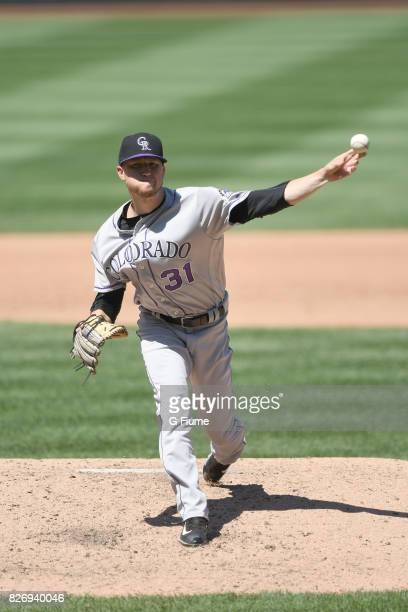 Kyle Freeland of the Colorado Rockies pitches against the Washington Nationals at Nationals Park on July 30 2017 in Washington DC