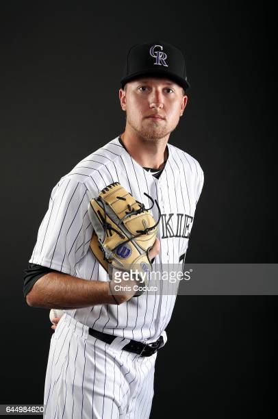Kyle Freeland of the Colorado Rockies poses for a portrait during photo day at Salt River Fields at Talking Stick on February 23 2017 in Scottsdale...