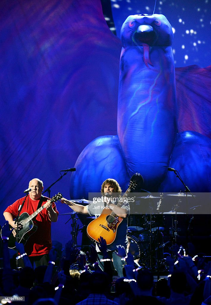 Kyle Gass and Jack Black of Tenacious D perform onstage during Spike TV's 10th annual Video Game Awards at Sony Pictures Studios on December 7, 2012 in Culver City, California.