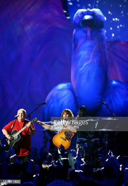 Kyle Gass and Jack Black of Tenacious D perform onstage during Spike TV's 10th annual Video Game Awards at Sony Pictures Studios on December 7 2012...