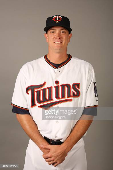 Kyle Gibson of the Minnesota Twins poses during Photo Day on Tuesday March 3 2015 at Hammond Stadium in Fort Myers Florida