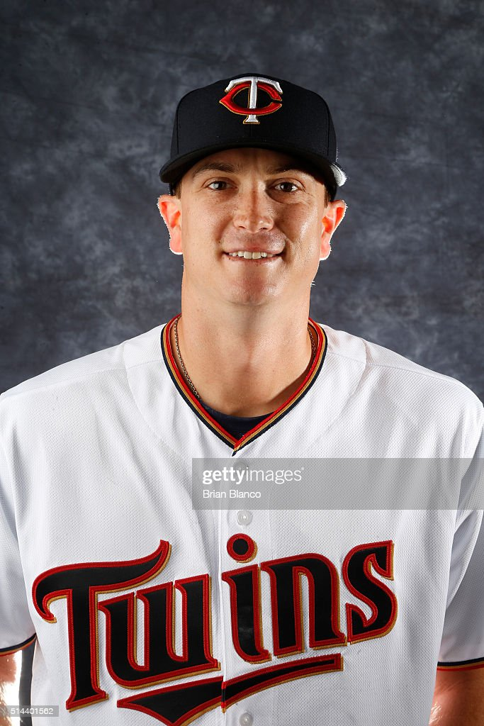 Kyle Gibson of the Minnesota Twins poses for a photo during the Twins' photo day on March 1 2016 at Hammond Stadium in Ft Myers Florida