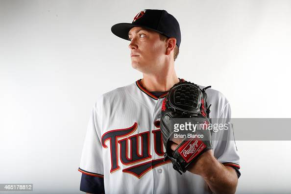 Kyle Gibson of the Minnesota Twins poses for a photo on March 3 2015 at Hammond Stadium in Fort Myers Florida