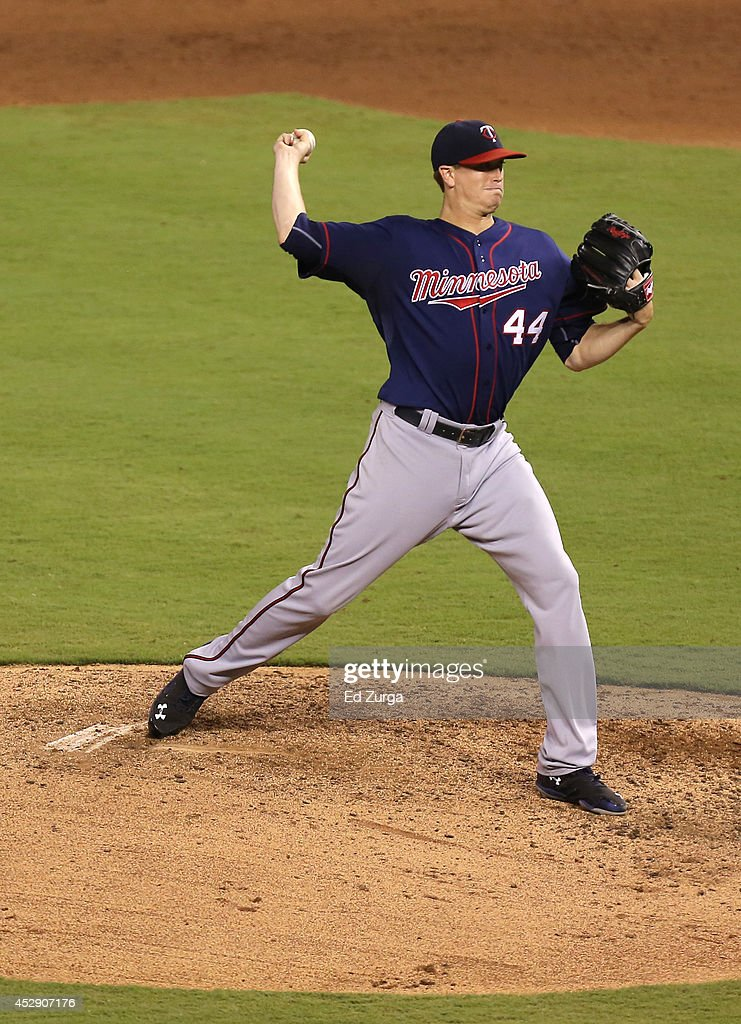 <a gi-track='captionPersonalityLinkClicked' href=/galleries/search?phrase=Kyle+Gibson&family=editorial&specificpeople=5813348 ng-click='$event.stopPropagation()'>Kyle Gibson</a> #44 of the Minnesota Twins throws in the fifth inning against the Kansas City Royals at Kauffman Stadium on July 29, 2014 in Kansas City, Missouri.