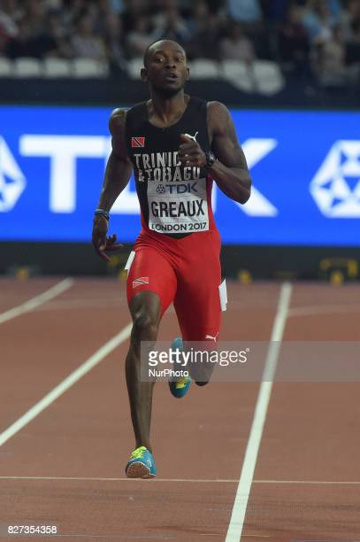 Kyle GREAUX Trinidad tobago during 200 meter heats in London on August 7 2017 at the 2017 IAAF World Championships athletics