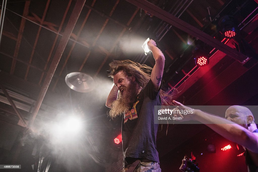Kyle 'Gumby' Gunther of Battlecross performs at Iron City on September 4 2015 in Birmingham Alabama